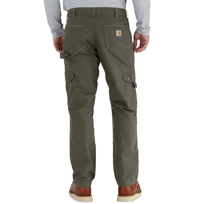 Carhartt Men's Ripstop Cargo Work Flannel-Lined Pant image number 4