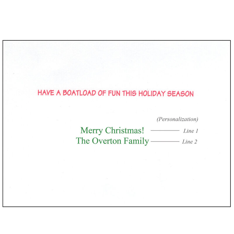 Kersten Brothers Personalized Santa Boarding Small Craft Card image number 2
