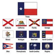 "Georgia State Flag, 12"" x 18"""
