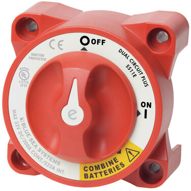 Blue Sea Systems Add-A-Battery Dual Circuit Battery Switch Only