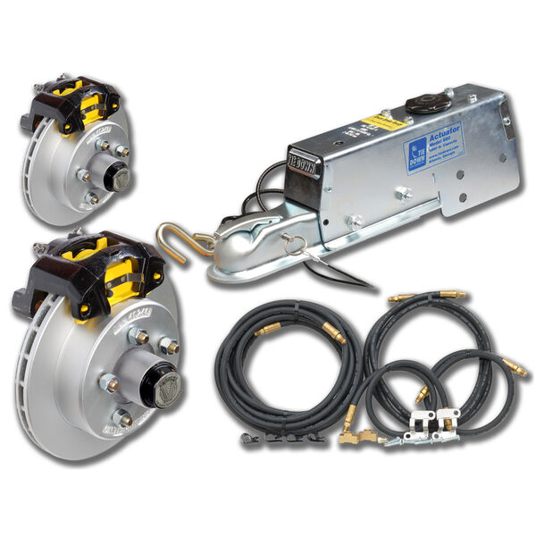 """Tie-Down 10"""" Vented Rotor Disc Brakes Complete Kit With Vortex Hub"""