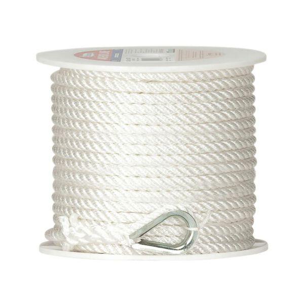 Twisted Nylon Anchor Line, 3/8'' x 100'