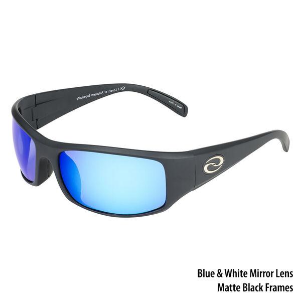 Strike King S11 Okeechobee Sunglasses - Matte Black Frame/White-Blue Mirror Lens