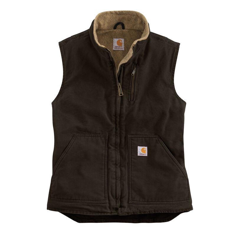 Carhartt Women's Sandstone Sherpa-Lined Mock-Neck Vest image number 7