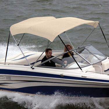 """Shademate Sunbrella 3-Bow Bimini Top, 5'L x 32""""H, 67""""-72"""" Wide"""
