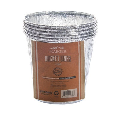 Traeger Grill Bucket Liners, 5-pack
