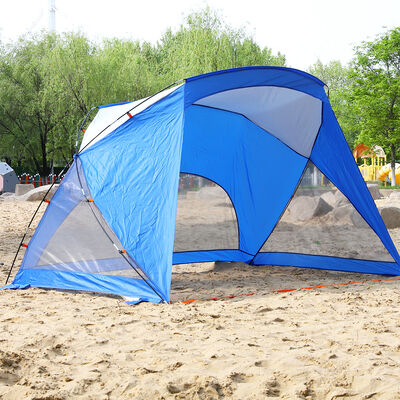 MF Studio 3-4 Person Beach Canopy and Portable Shade, Blue