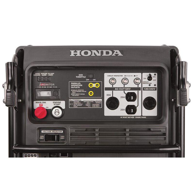 Honda EU7000iS 7,000 Watt Super Quiet Portable Inverter Generator with Electric Start image number 2