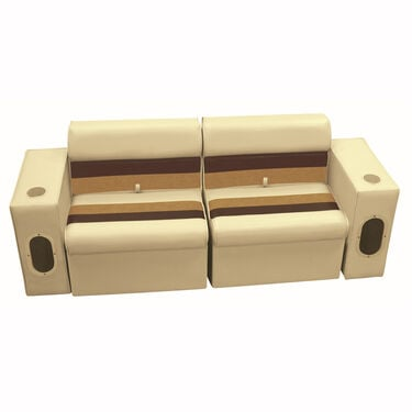 Deluxe Pontoon Furniture w/Classic Base - Front Group Package E, Sand/Chest/Gold