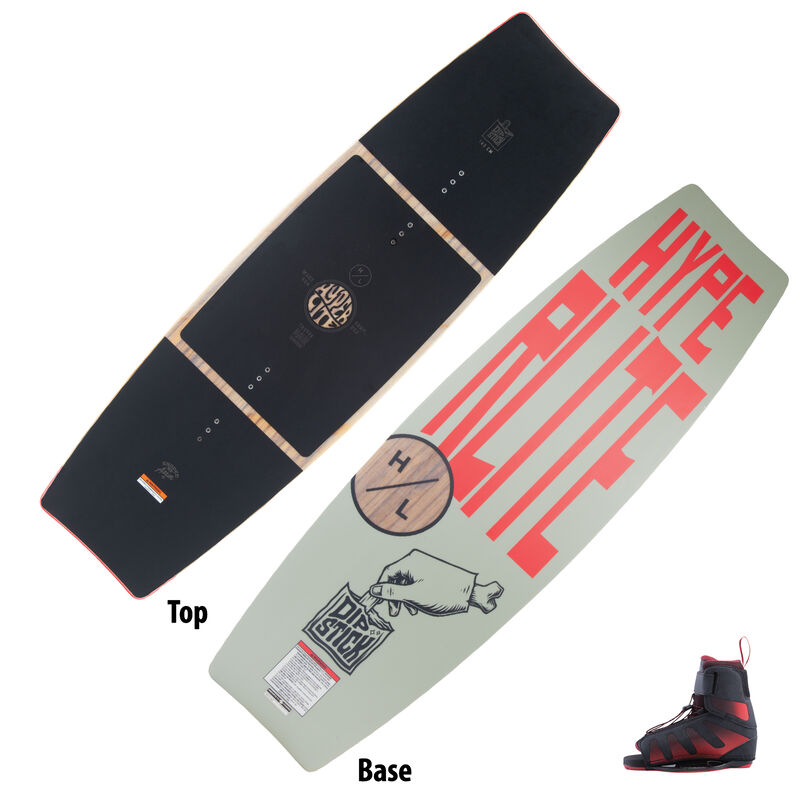 Hyperlite Dipstick Wakeboard With Session Bindings image number 1