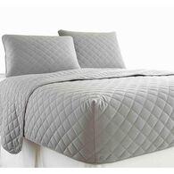 Micro Flannel® RV Bedspread, Short Queen - Gray