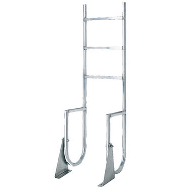 International Dock Wide-Step Flip-Up Dock Ladder, 4-Step