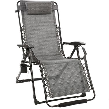 Metallic Mesh Recliner