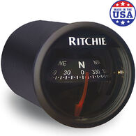 RitchieSport X-21 Dash-Mount Compass, black w/black card