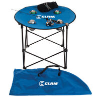 Clam Quick-Pack Round Folding Table with Carry Case