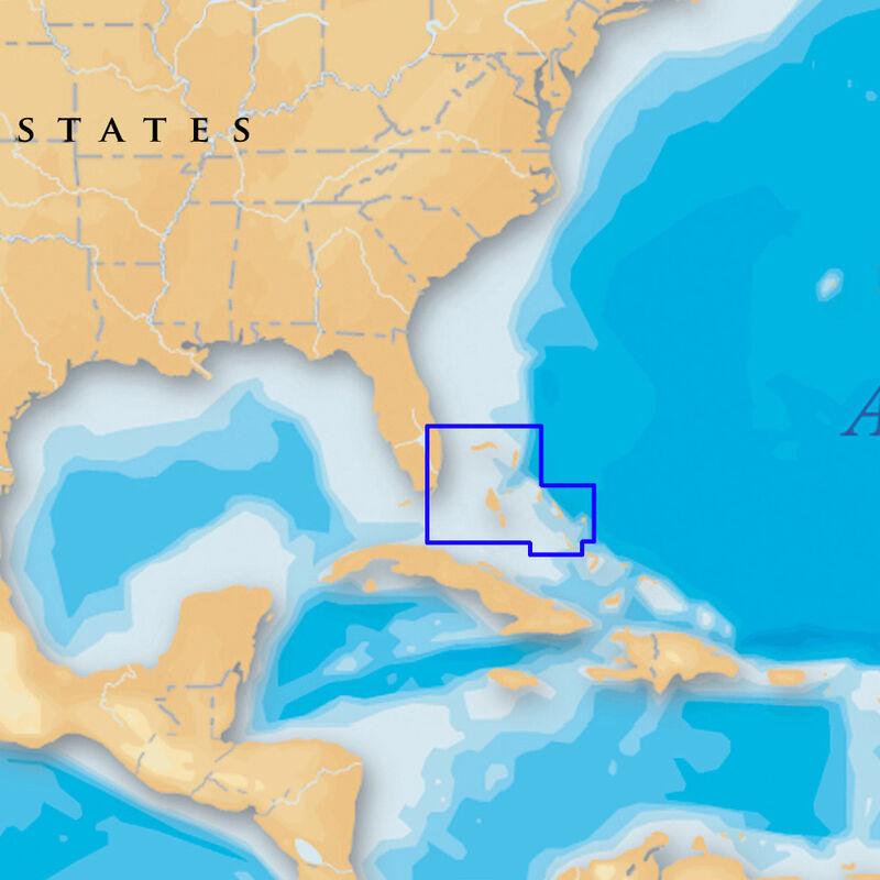 Navionics Platinum+ Map Bahamas - SD Cartridge image number 1