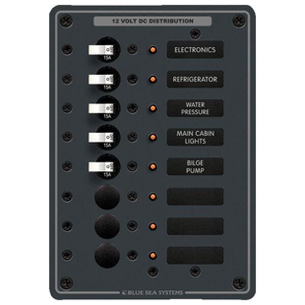 Blue Sea 12/24V DC Branch Circuit Breaker Panel, Model 8023