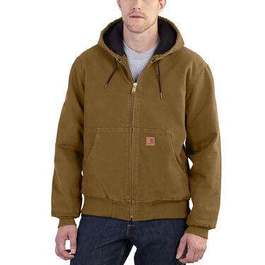 Carhartt Men's Quilted Flannel-Lined Sandstone Active Jacket