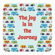 """Joy is in the Journey"" Drink Coaster, each"
