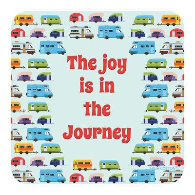 """Joy is in the Journey"" Drink Coaster, each"