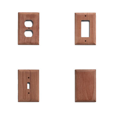 SeaForce Teak Ground Fault Outlet Cover, Receptacle Plate, 2-pk.