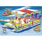 Santa's Pontoon Party Christmas Cards