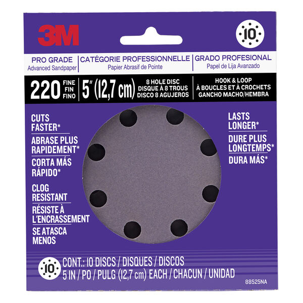 3M Power Tool Sanding Discs, 220-grit