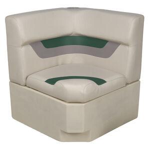 Toonmate Designer Pontoon Corner Section Seat - TOP ONLY - Platinum/Evergreen/Mocha