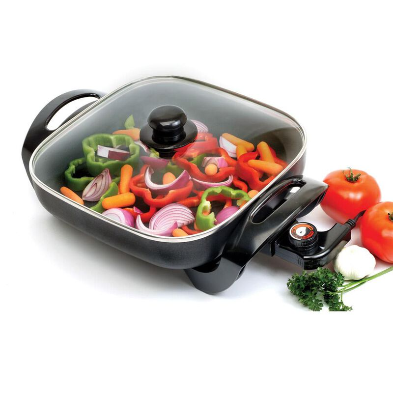 """12"""" x 12"""" Non-Stick Electric Skillet image number 1"""