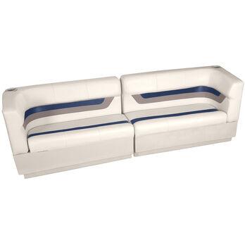 Designer Pontoon Furniture - Traditional Rear Package, Platinum/Midnight/Mocha