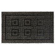 "Clean Machine Greek Design Mat, 18"" x 30"", Black/Gray"