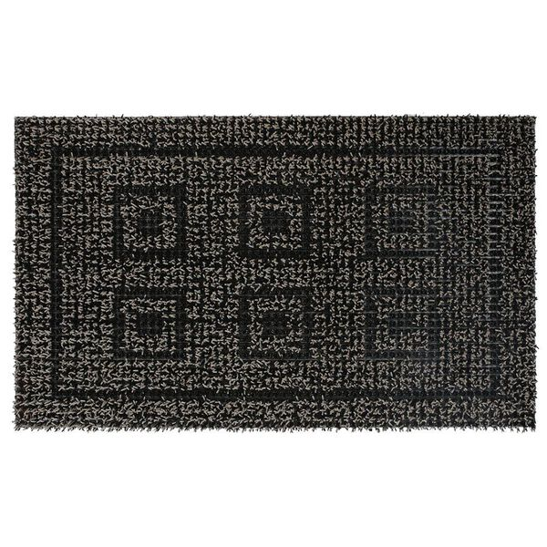 "Clean Machine Greek Design Mat, 18"" x 30"", Black/Gray"