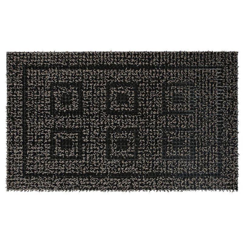 "Clean Machine Greek Design Mat, 18"" x 30"", Black/Gray image number 1"