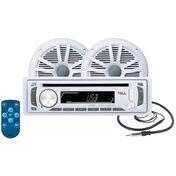 Boss MCK648W.6 AM/FM/CD/MP3 Marine Receiver Package