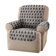 Paw Print Chair Cover, Gray/Black