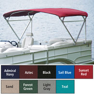 "Traditional Pontoon Bimini Top SurLast Polyester 1"" Free Standing Frame 90""-96""W"