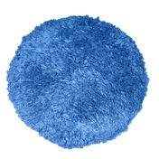 """Blue Blended Wool 9"""" Double-Sided Quick Connect Polishing Pad"""