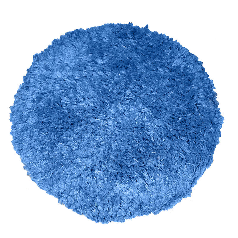 """Blue Blended Wool 9"""" Double-Sided Quick Connect Polishing Pad image number 1"""