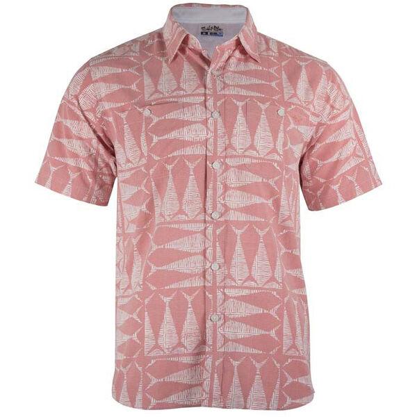 Salt Life Men's Optic Tails Short-Sleeve Woven Shirt