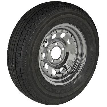 Goodyear Endurance ST205/75 R 14 Radial Trailer Tire, 5-Lug Chrome Modular Rim
