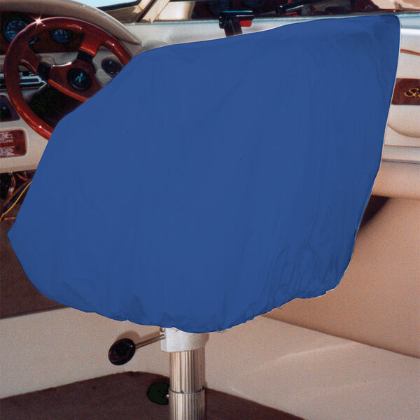 """Ripstop Polyester Helm/Bucket/Fixed Back Seat Cover, Navy Blue (24""""H x 24""""W x 22""""D)"""