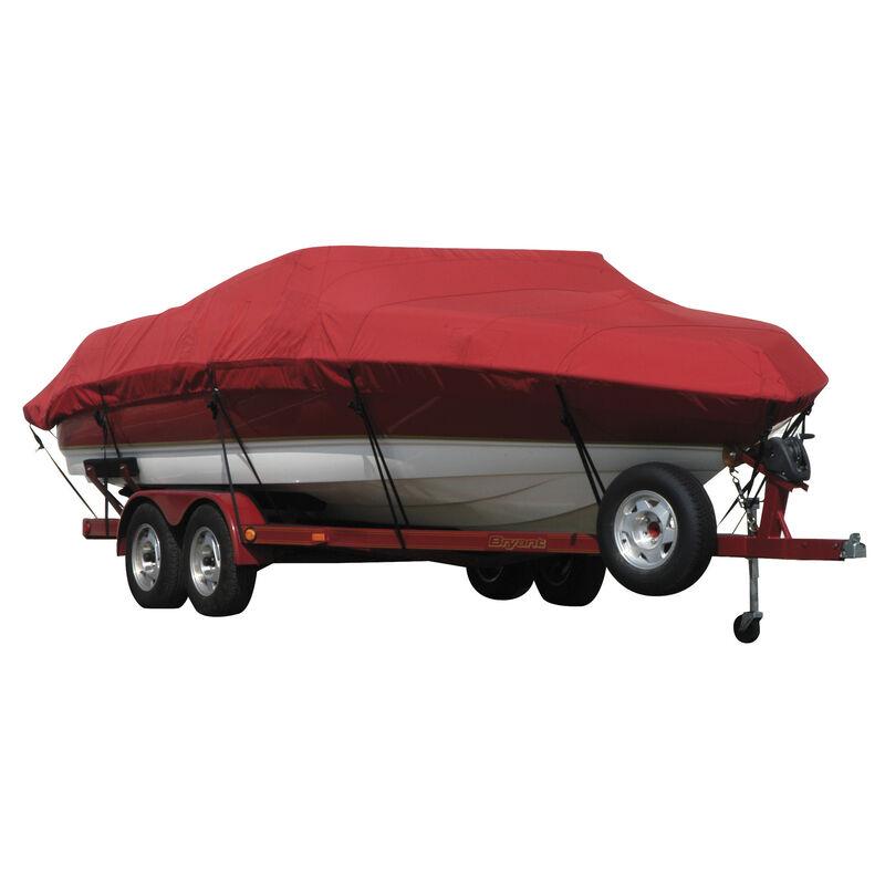 Exact Fit Covermate Sunbrella Boat Cover for Crestliner Angler 1600 Tiller  Angler 1600 Tiller W/Port Minnkota Troll Mtr O/B image number 15