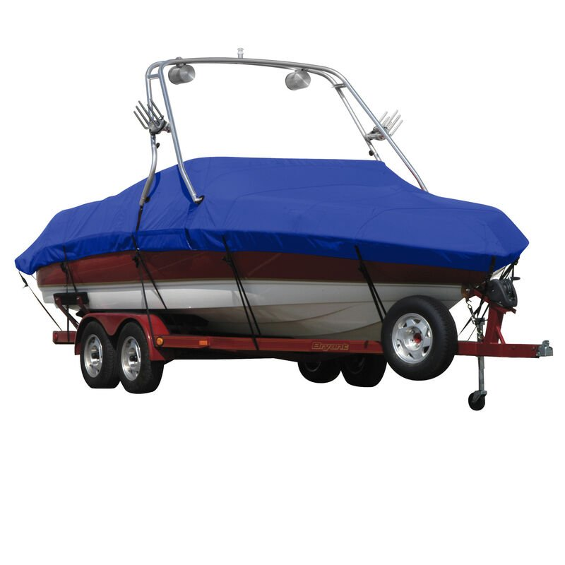 Exact Fit Covermate Sunbrella Boat Cover For MALIBU WAKESETTER 21 VLX w/TITAN TOWER CUTOUTS Doesn t COVER PLATFORM image number 15