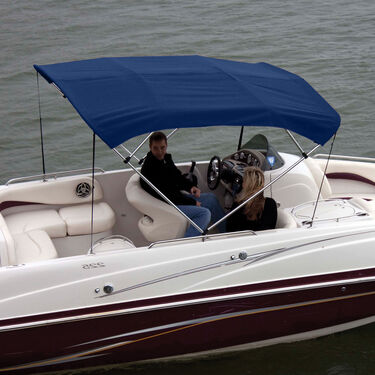 """Shademate Bimini Top Polyester Fabric and Boot Only, 4-Bow 8'L, 42""""H, 54""""-60""""W"""