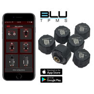 BLU Tire Pressure & Temperature Monitoring System, External 1-100psi, Set of 6