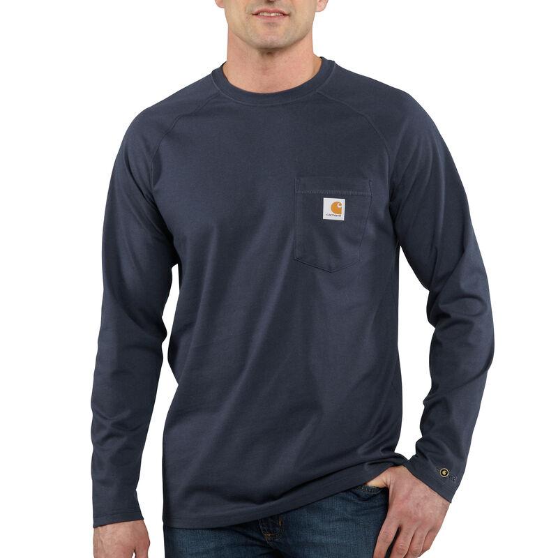 Carhartt Men's Force Cotton Delmont Long-Sleeve T-Shirt image number 7