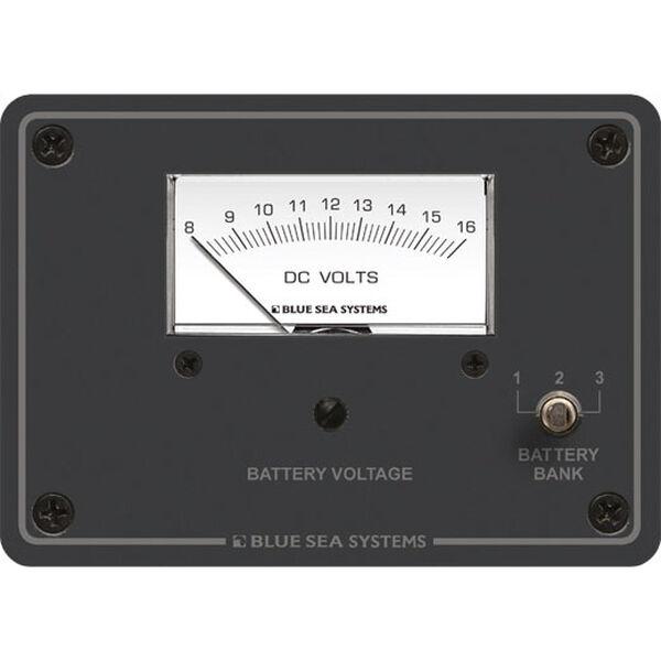 Blue Sea Systems DC Analog Voltmeter Panel, 8 - 16V DC