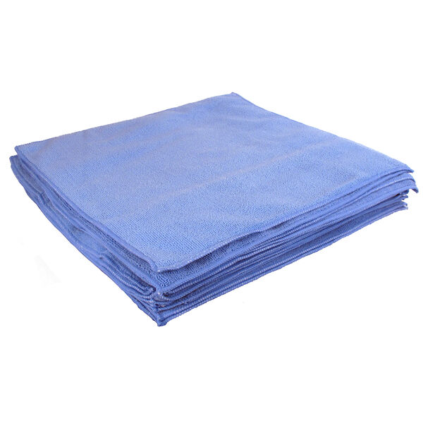 "Buffalo 16"" x 16"" Microfiber Cleaning Cloths, Blue, 5-Pack"