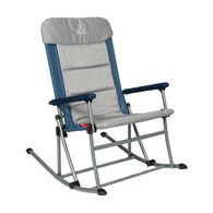Venture Forward Rocking Chair with Mattress, Blue/Gray