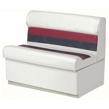 """Toonmate Deluxe Pontoon 27"""" Wide Lounge Seat with Toe Kick Base, White"""